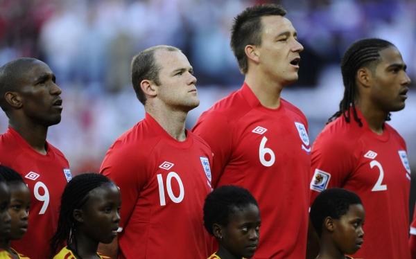 Inglaterra sin Rooney, Terry y seis bajas más ante Ucrania por Eliminatorias
