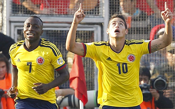 Colombia venció 3-1 a Chile en Santiago y se mete entre líderes de las Eliminatorias