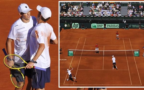 Copa Davis: EE.UU. ganó el dobles y se mantiene vivo ante España