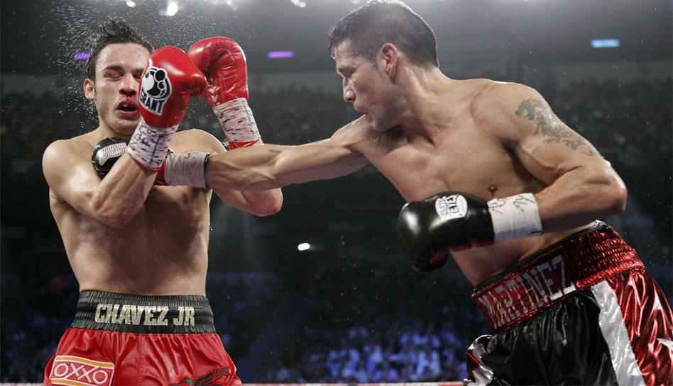 FOTOS: la espectacular pelea entre Sergio 'Maravilla' Martínez y Julio César Chávez Jr.