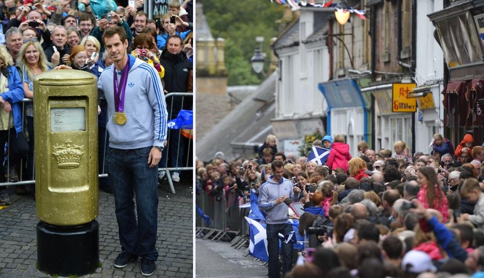 FOTOS: tenista Andy Murray fue recibido en Escocia como héroe nacional