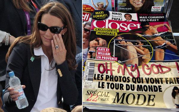 Justicia francesa prohibió a revista usar las fotos de Catalina en 'topless'