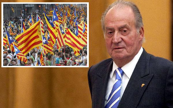 Rey Juan Carlos llamó a la unidad tras marcha independentista catalana