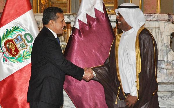 Ollanta Humala recibió cartas credenciales de embajadores de cinco países