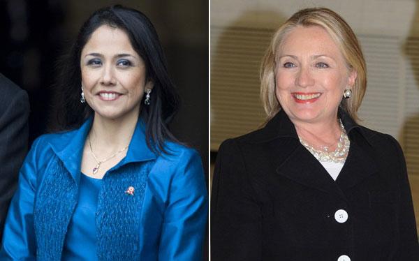 Nadine Heredia fue invitada por Hillary Clinton a Nueva York