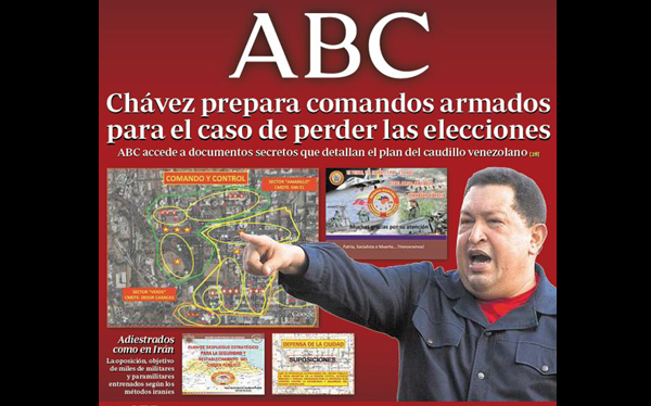 Chávez planea usar las armas si Capriles se impone, asegura diario español