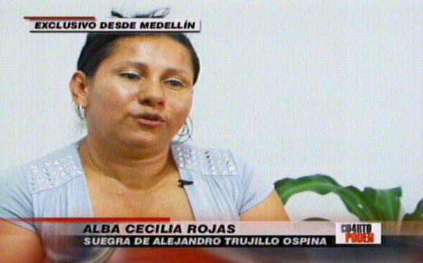 """Suegra de Alejandro Trujillo Ospina: """"No es un sicario, entró a robar"""""""