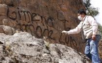 Cusco: desadaptados hicieron 171 pintas en monumentos incas - Noticias de alfredo mormontoy