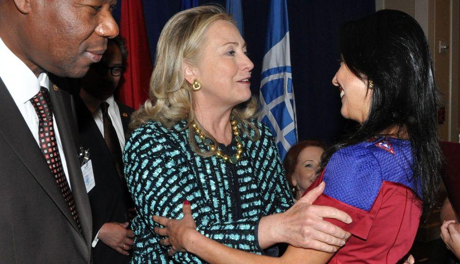 FOTOS: Nadine Heredia, Hillary Clinton y Michelle Bachelet en la cita de líderes en Nueva York