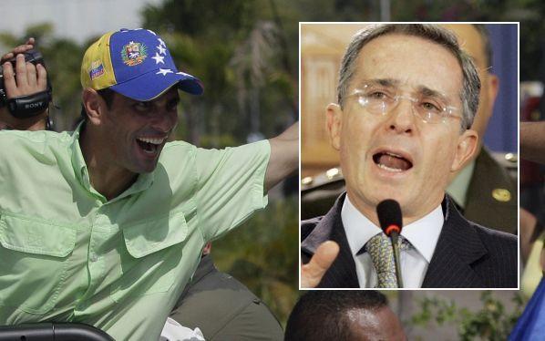 Capriles negó que ex presidente Álvaro Uribe sea su asesor de campaña