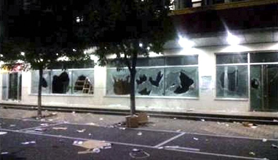 FOTOS: los destrozos que dejaron los trabajadores chinos de una fábrica proveedora de Apple