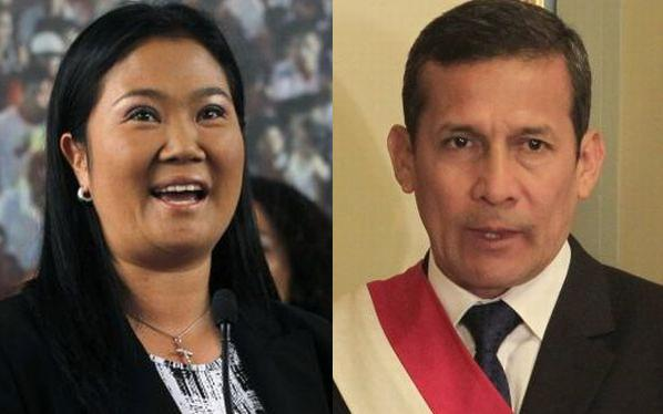 Keiko Fujimori es la principal opositora al gobierno de Ollanta Humala, según sondeo