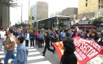 Marcha del Sutep llegó a la Av. Arequipa y bloquea tránsito vehicular - Noticias de wilson huaman