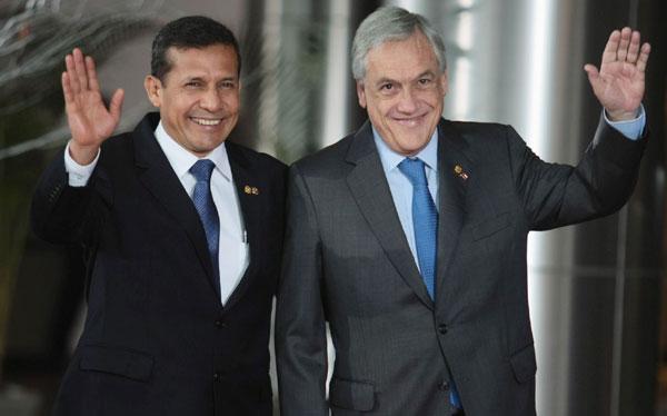 Ollanta Humala saludó a los jefes de Estado y de Gobierno del ASPA