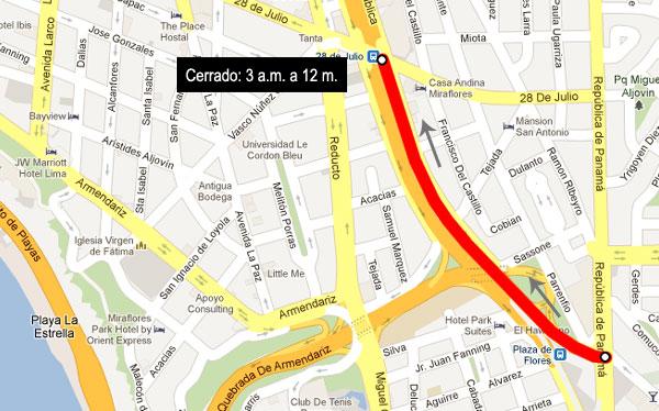 Vía Expresa será cerrada mañana de sur a norte por carrera de la Teletón
