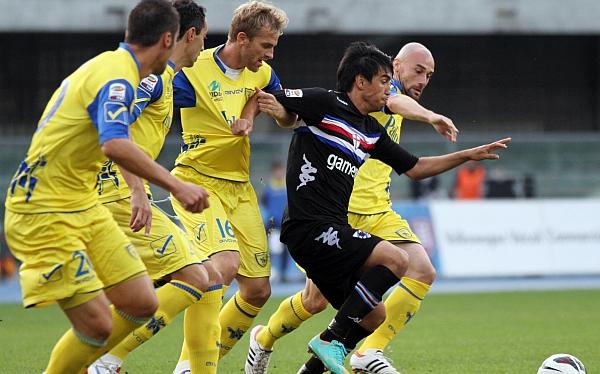 Sin Cruzado el Chievo Verona venció 2-1 Sampdoria y rompió la mala racha