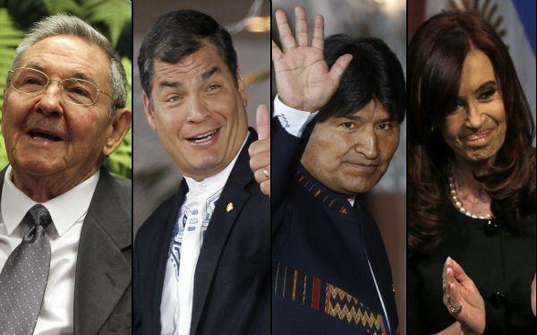 Cuba, Ecuador, Bolivia y Argentina felicitaron a Hugo Chávez por su tercera reelección