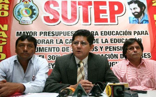 Secretario general del Sutep denuncia que terroristas lo han amenazado de muerte