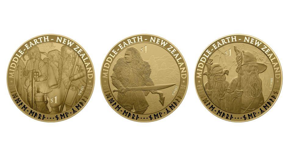 """De colección: las monedas inspiradas en la película """"El Hobbit"""" emitidas en Nueva Zelanda"""