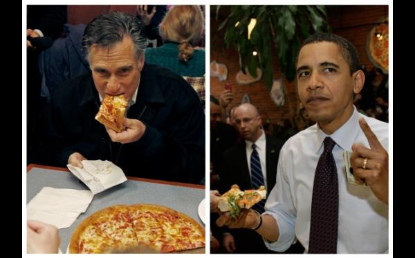 ¿Salchicha o pepperoni? Quien le haga la pregunta a Obama o Romney tendrá pizza gratis de por vida