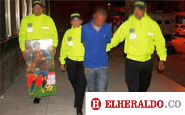Un cuadro con la imagen de Lionel Messi fue utilizado para esconder droga