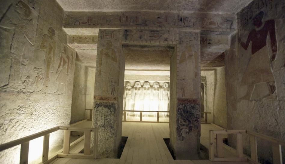 FOTOS: el interior de una de las tumbas faraónicas que Egipto abrió al turismo