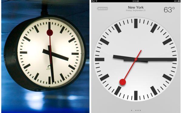 Apple y trenes suizos llegaron a acuerdo para que iPad use reloj helvético