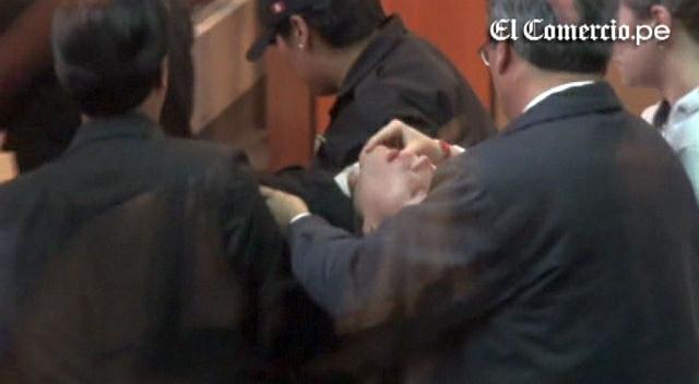 Eva Bracamonte se desmayó y convulsionó durante la lectura de su sentencia