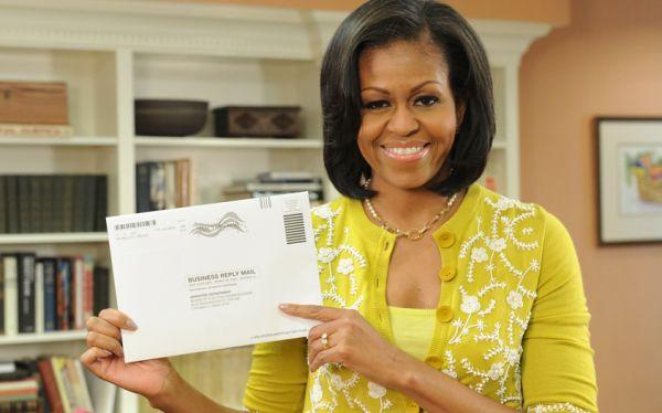 Michelle Obama ya votó por correo y su esposo lo hará el 25 de octubre