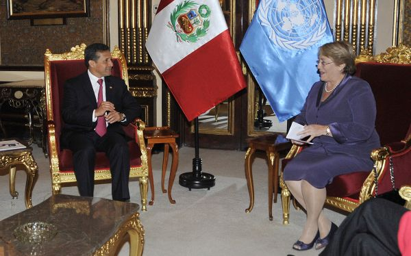 El presidente Ollanta Humala sostuvo reunión con Michelle Bachelet