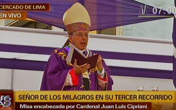 """Cardenal Cipriani: """"Hay que alejar la plaga del aborto del planeta"""""""