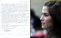 Desde la cárcel, Eva Bracamonte agradeció apoyo en una carta publicada en Facebook - Noticias de silvia myriam fefer