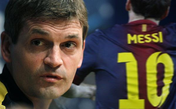 Foto Tito Vilanova (ex tecnico del Barcellona) con Leo Messi