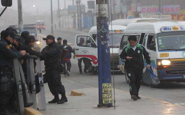 Paro de transportistas: policías y serenos saldrán desde las 3:00 a.m. para evitar desmanes