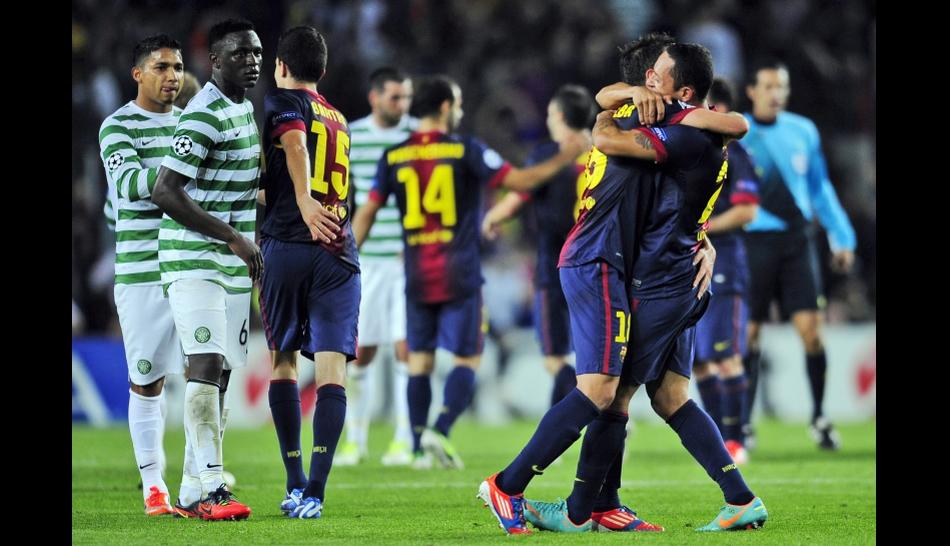 FOTOS: Barcelona logró un triunfo agónico y Celtic pasó del júbilo a la tristeza