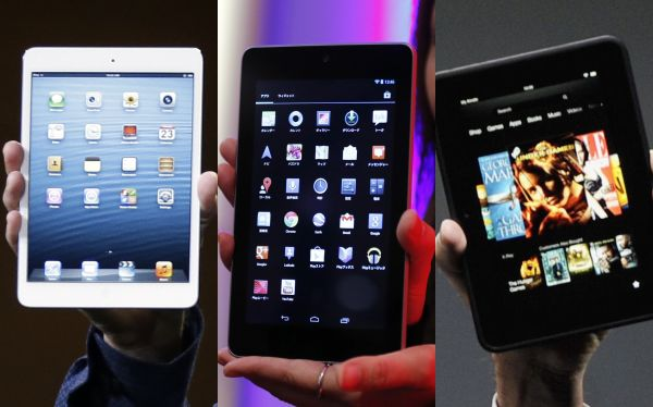 Tabla comparativa: la iPad mini versus la Nexus 7 y la Kindle Fire HD