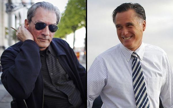 """Escritor Paul Auster llama a Mitt Romney un """"hombre hueco"""""""