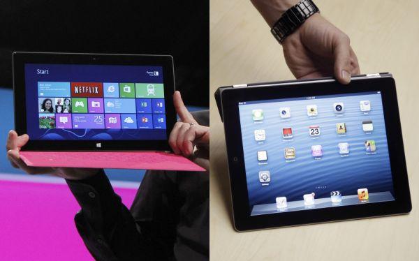 Surface vs iPad 4: compara las características de ambos equipos