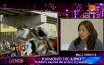 Esposa de policía agredido exigió castigo para vándalos de La Parada - Noticias de percy huamancaja