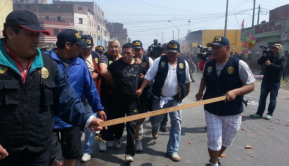 Fiscalía denunció penalmente a 102 implicados por violencia en La Parada