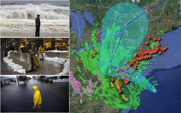MAPA: sigue la llegada del huracán Sandy a Estados Unidos