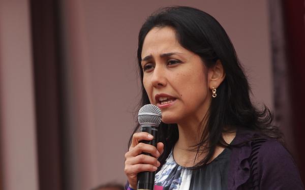 Nadine Heredia suspendió viaje a Nueva York por huracán Sandy
