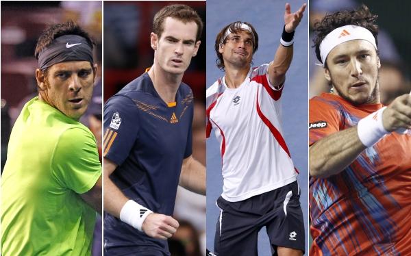 Del Potro, Ferrer, Mónaco y Murray avanzaron en el Masters 1000 de París