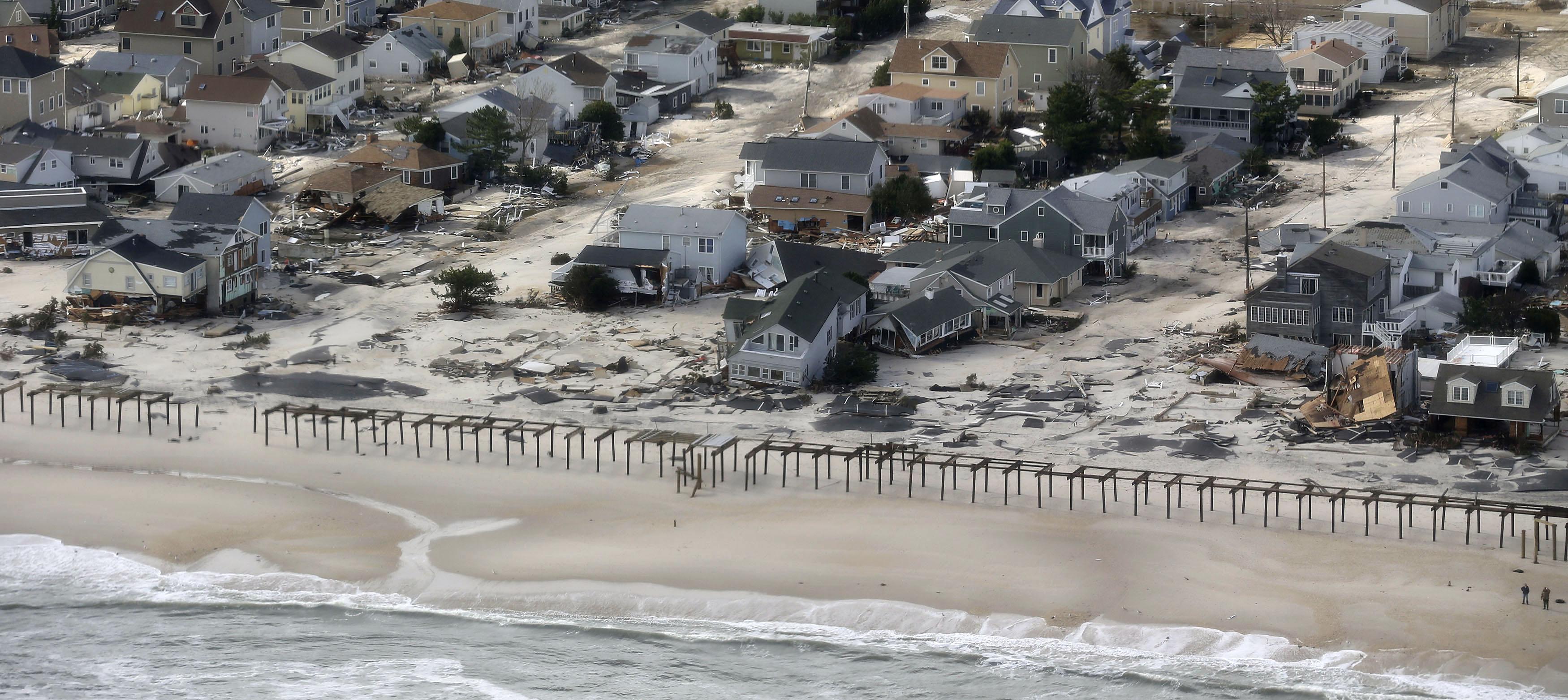 FOTOS: así se ven desde el aire los daños causados por el huracán Sandy en Nueva Jersey