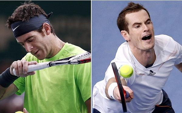 Murray y Del Potro quedaron eliminados del Masters 1000 de París