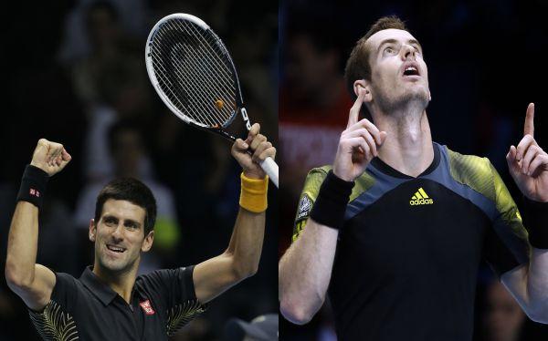 Novak Djokovic y Andy Murray ganan en el inicio del Masters Londres