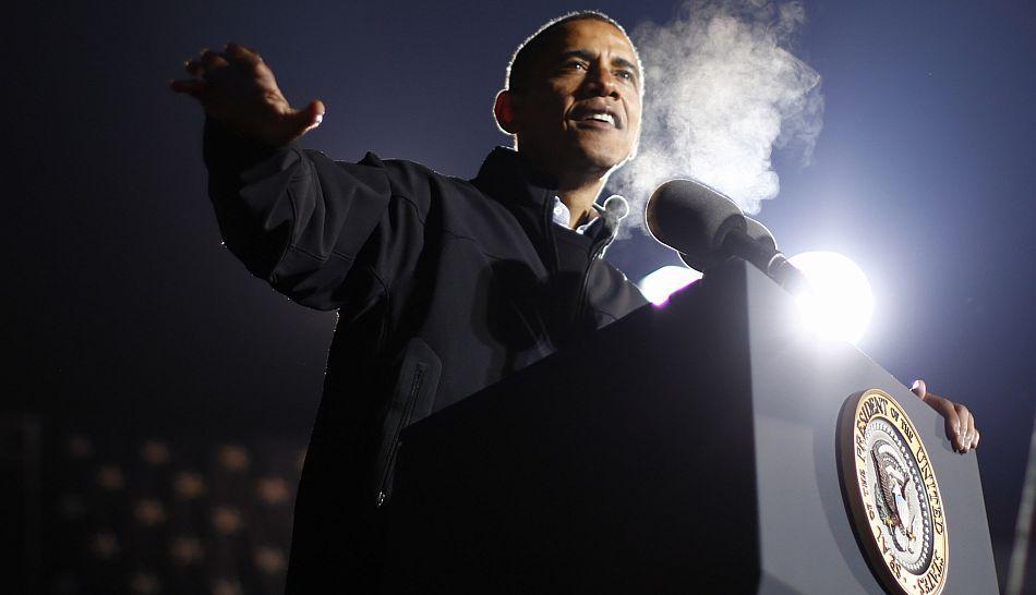 FOTOS: así fueron los cierres de campaña de Barack Obama y Mitt Romney