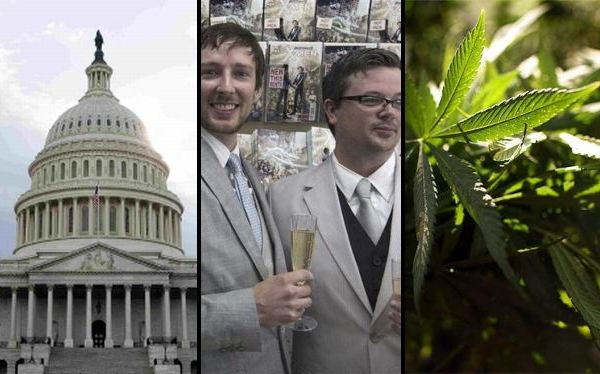 En EE.UU. también se vota hoy por el matrimonio gay, el consumo de marihuana y otros temas