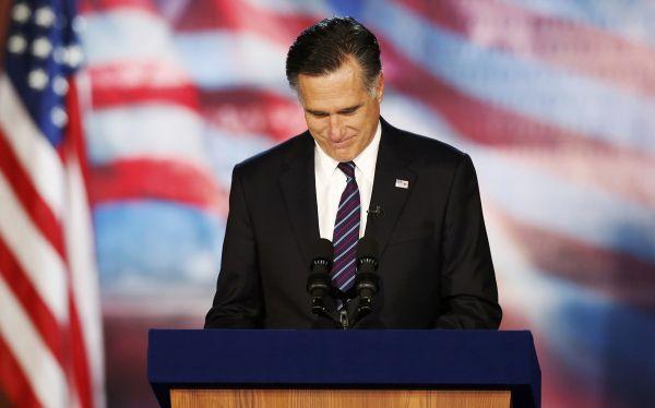 Mitt Romney aceptó su derrota y felicitó a Barack Obama por su victoria