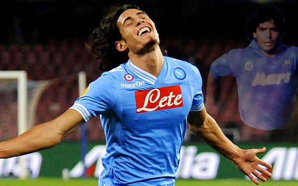 Cavani quiere superar récord de goles de Maradona en el Napoli